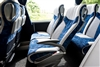 Seat back tables, magazine nets, arm rests, foot rests and reclining Luxline seats with sideways movement feature make the Tourismo one of the most comfy vehicles on the market today